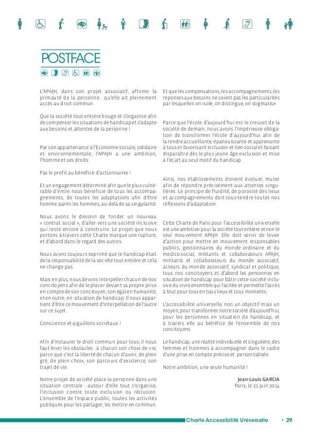Charte de Paris pour l'Accessibilité universelle de l'APAJH