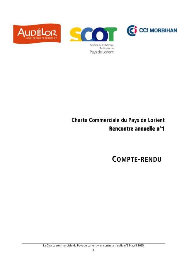 LaChartecommercialeduPaysdeLorient–rencontreannuellen°19avril2015 1  Charte Commerciale du Pays de Lorient ...