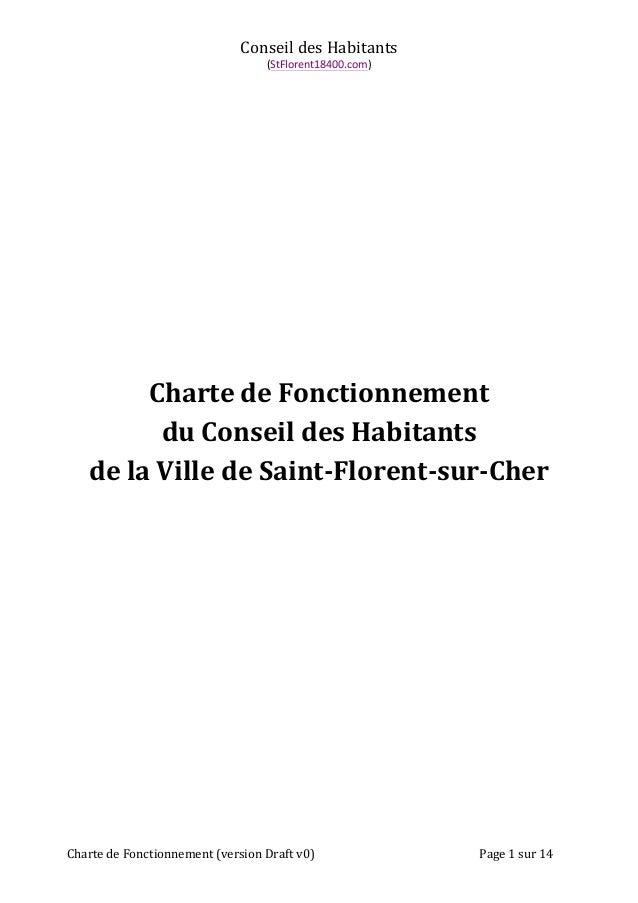Conseil  des  Habitants  (StFlorent18400.com)  Charte  de  Fonctionnement  du  Conseil  des  Habitants  de  la  Ville  de ...