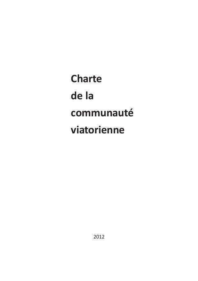 Chartede lacommunautéviatorienne   2012