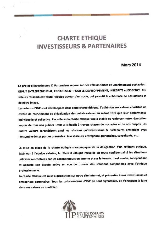 Charte ethique (signée)