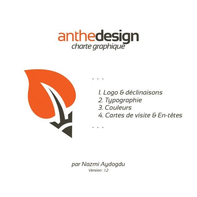 Charte graphique de l'agence web anthedesign