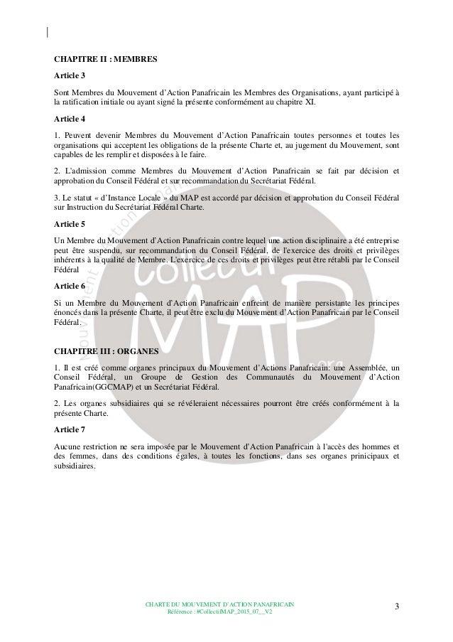 Charte du Mouvement d'Action Panafricain (MAP) Slide 3