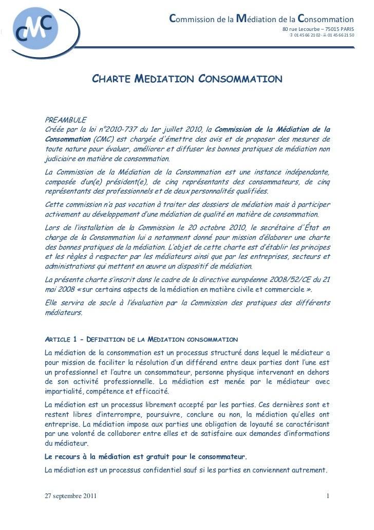 Commission de la Médiation de la Consommation                                                                          80 ...