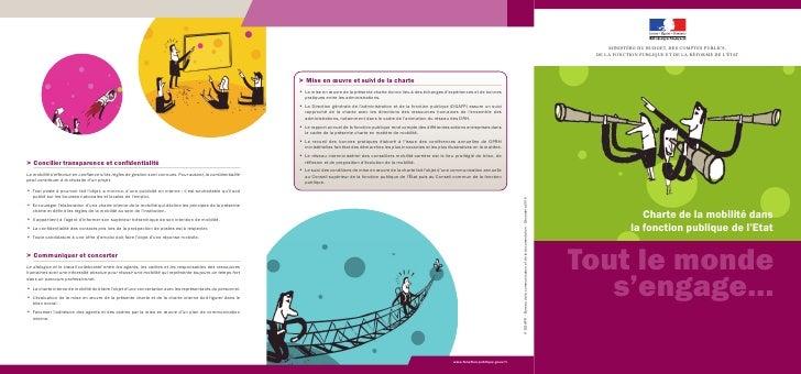 MINISTÈRE DU BUDGET, DES COMPTES PUBLICS, DE LA FONCTION PUBLIQUE ET DE LA RÉFORME DE LÉTAT                Charte de la mo...