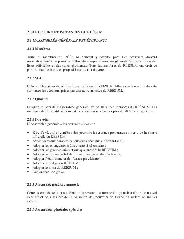 Charte officielle du réésum (refonte 2013) Slide 2
