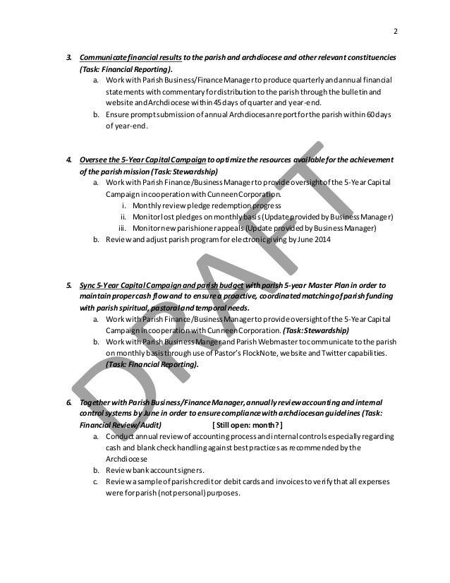 Parish FINANCE Council Charter - 2016 Slide 2