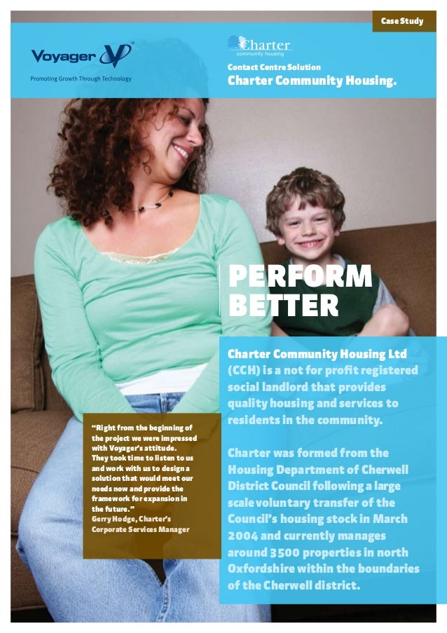 PERFORMBETTERCharter Community Housing Ltd(CCH) is a not for profit registeredsocial landlord that providesquality housing...