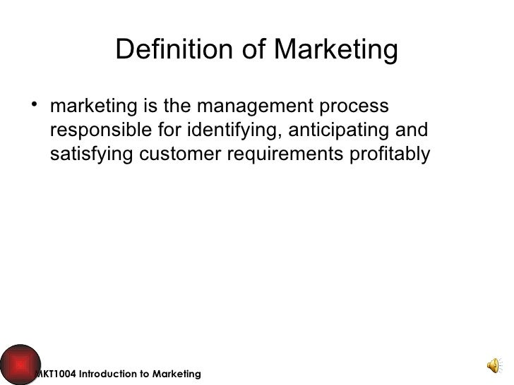 Chartered Institute Of Marketing Definition Marketing Definition