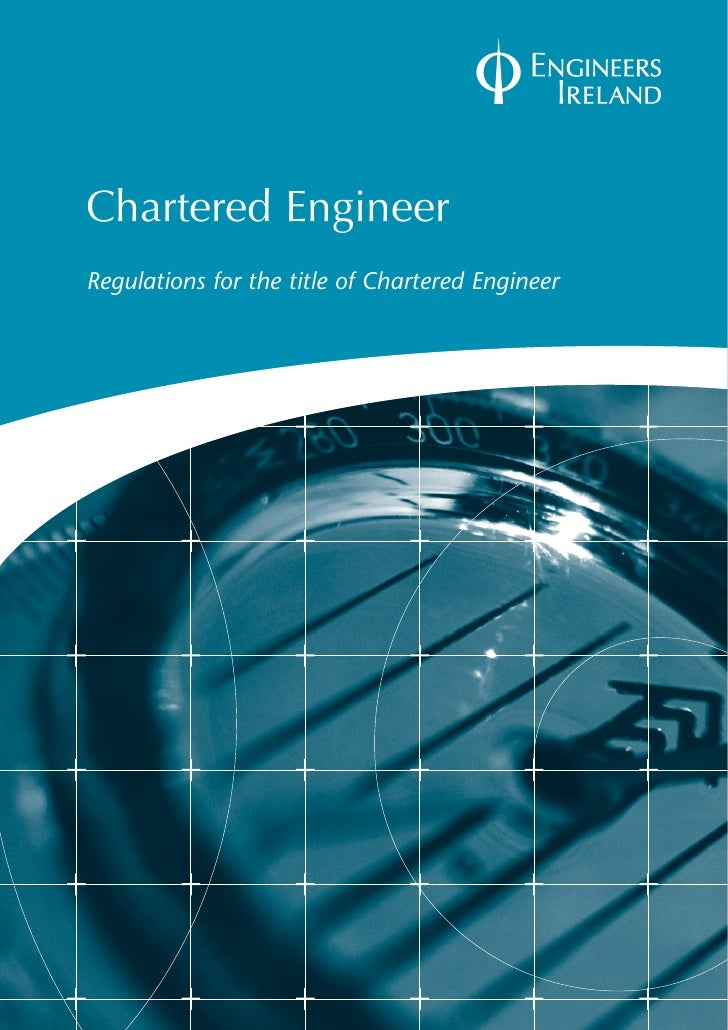 Chartered EngineerRegulations for the title of Chartered Engineer