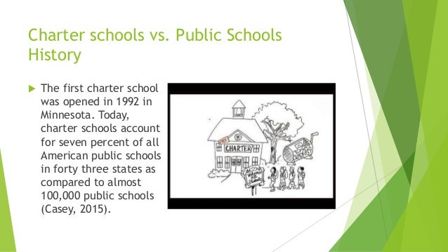 public schools vs charter schools A charter school is a school that receives government funding but operates  independently of the established state school system in which it is located  charter schools are an example of public asset privatization  bbc news  online retrieved 4 november 2015 jump up ^ charter vs public school: what's  the difference.