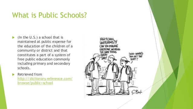 charter school vs public school essay That are used to pay for education at a school of their choice, rather than the  public school to which they are assigned charter schools on the.