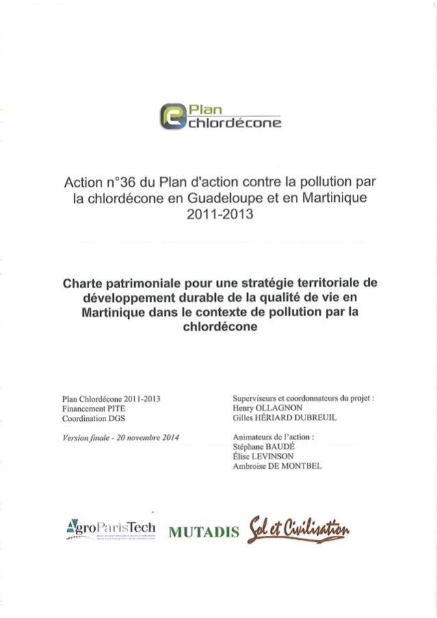 10 Annexe à la Charte patrimoniale pour une stratégie territoriale de développement durable de la qualité de vie en Martin...