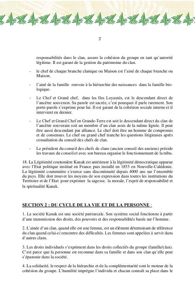 Charte Officielle Du Peuple Kanak
