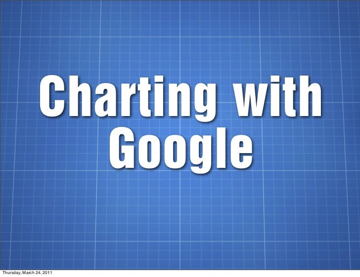 Charting with                    GoogleThursday, March 24, 2011