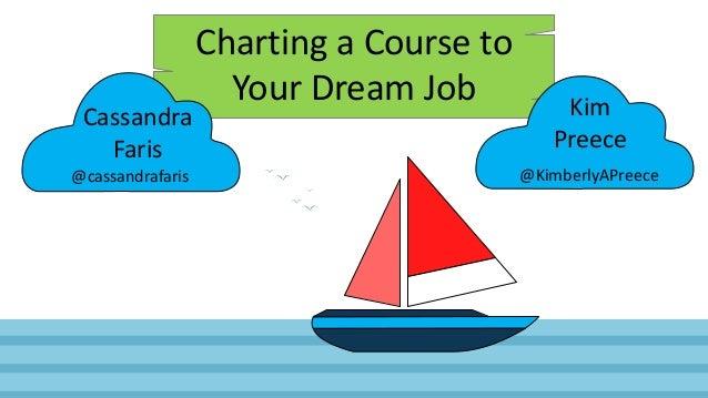 Charting a Course to Your Dream Job Cassandra Faris Kim Preece @cassandrafaris @KimberlyAPreece