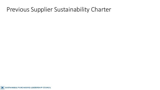 Previous Supplier Sustainability Charter