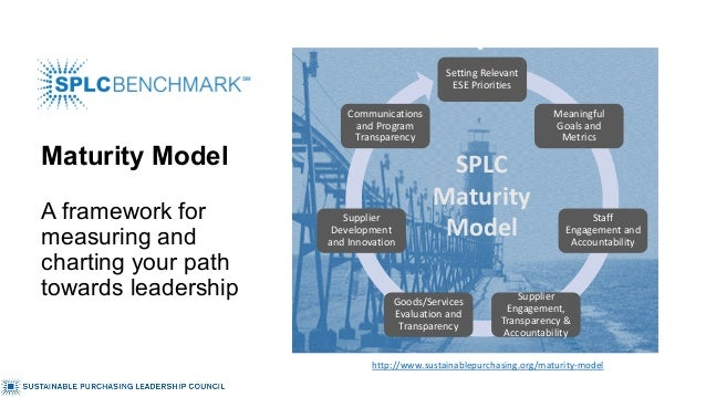 Maturity Model A framework for measuring and charting your path towards leadership Setting Relevant ESE Priorities Meaning...