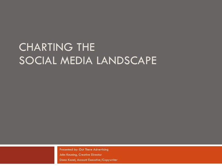 CHARTING THE  SOCIAL MEDIA LANDSCAPE Presented by: Out There Advertising John Keuning, Creative Director Dana Kazel, Accou...