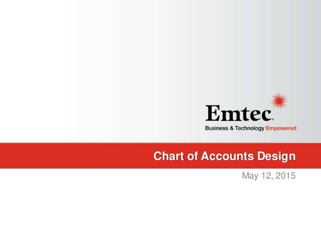 Emtec, Inc. Proprietary & Confidential. All rights reserved 2015. Chart of Accounts Design May 12, 2015