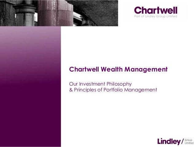 Chartwell Wealth ManagementOur Investment Philosophy& Principles of Portfolio Management