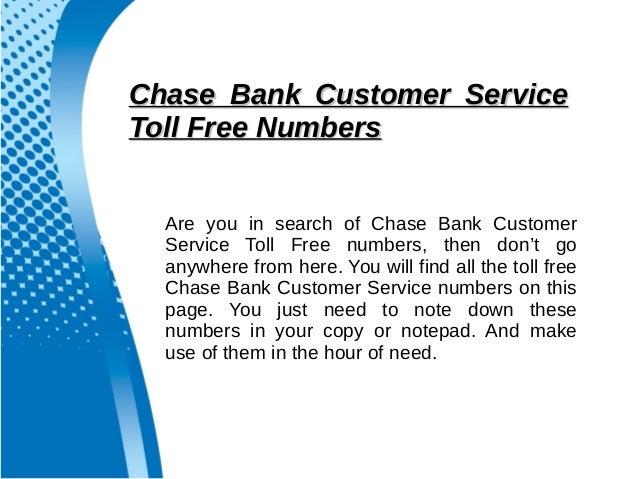 Chase bank customer service helpline number