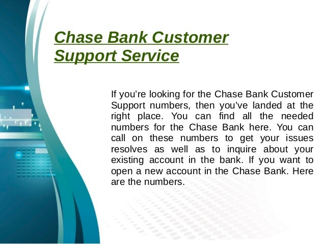 chase bank help phone number