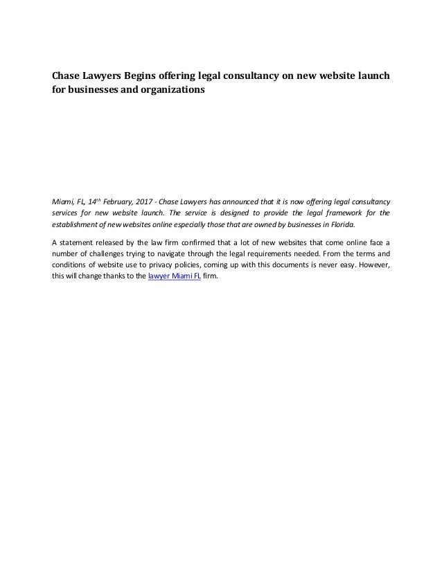 Chase Lawyers Begins Offering Legal Consultancy On New Website Launch - Legal documents websites