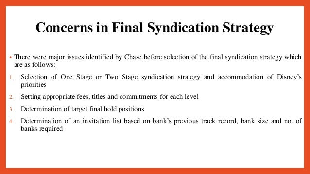 structuring loan syndicates a case study of the hong kong disneyland project loan
