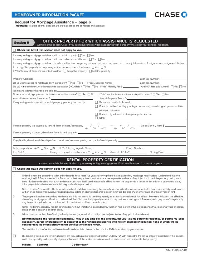 Making Home Affordable Rma Form