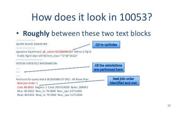 Howdoesitlookin10053? • Roughly betweenthesetwotextblocks --------------------- QUERYBLOCKSIGNATURE -----------...