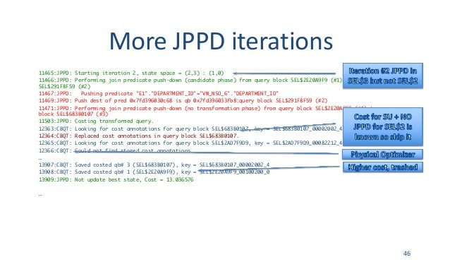 MoreJPPDiterations 11465:JPPD: Starting iteration 2, state space = (2,3) : (1,0) 11466:JPPD: Performing join predicate p...