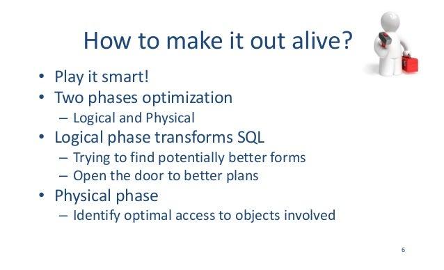 Howtomakeitoutalive? • Playitsmart! • Twophasesoptimization – LogicalandPhysical • LogicalphasetransformsSQ...