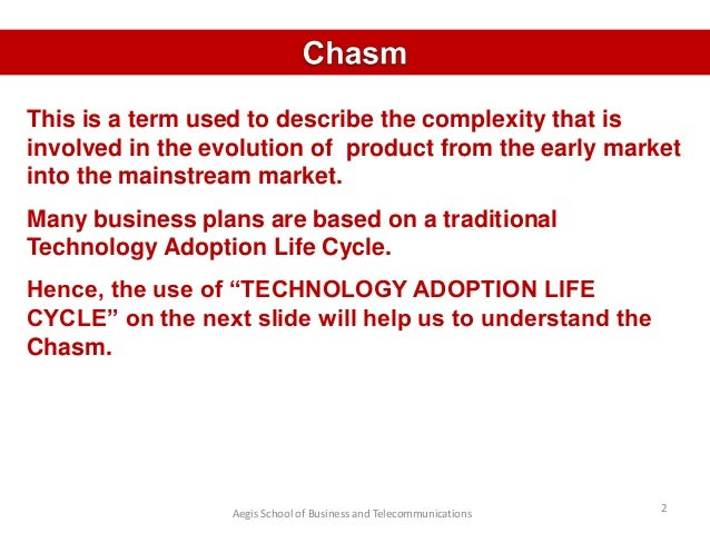 Crossing The Chasm Slide 2