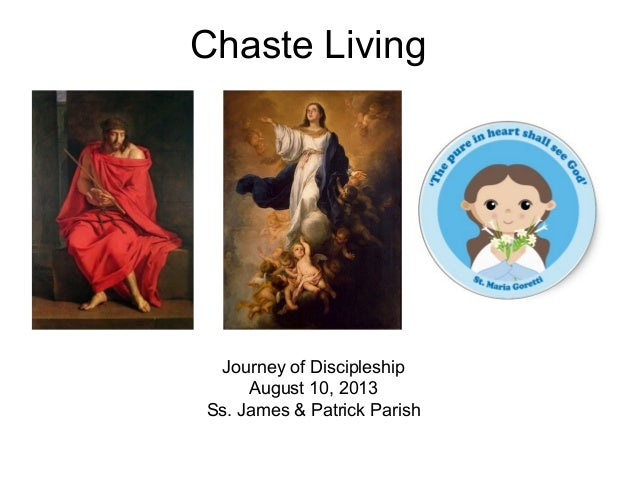 Chaste Living Journey of Discipleship August 10, 2013 Ss. James & Patrick Parish