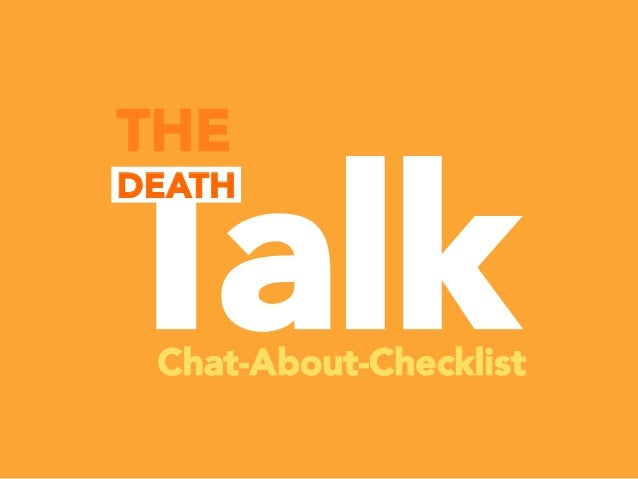 Talk THE DEATH Chat-About-Checklist
