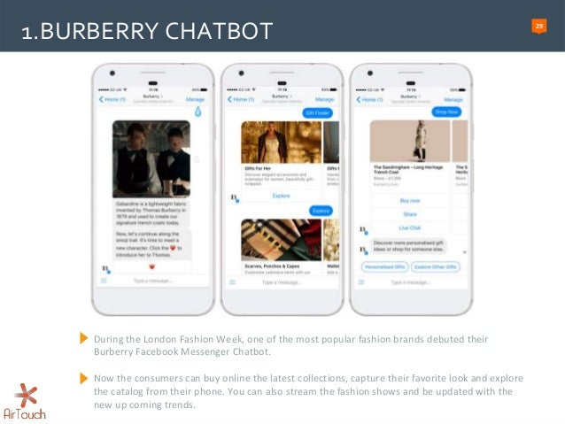 The rise of Chatbots – Airtouch presentation over Chatbot