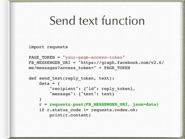 Write FB Bot in Python3
