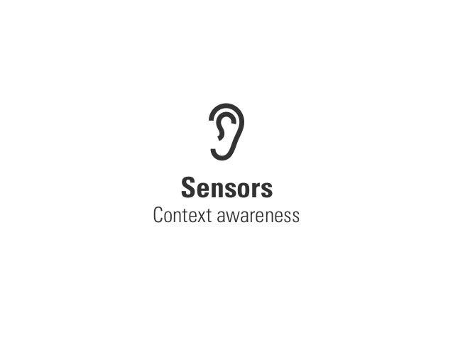 Sensors Context awareness