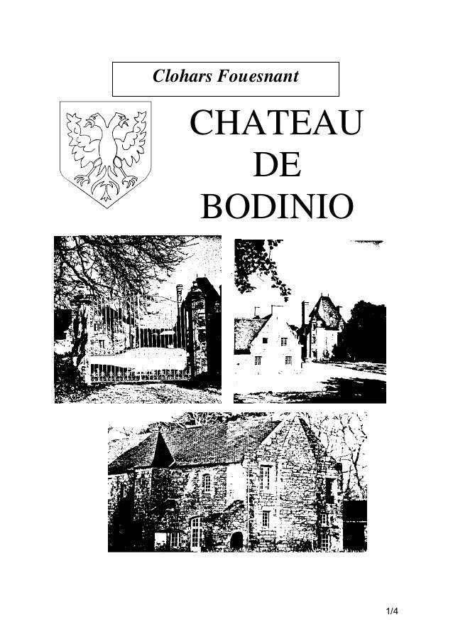 Clohars Fouesnant  CHATEAU DE BODINIO  1/4