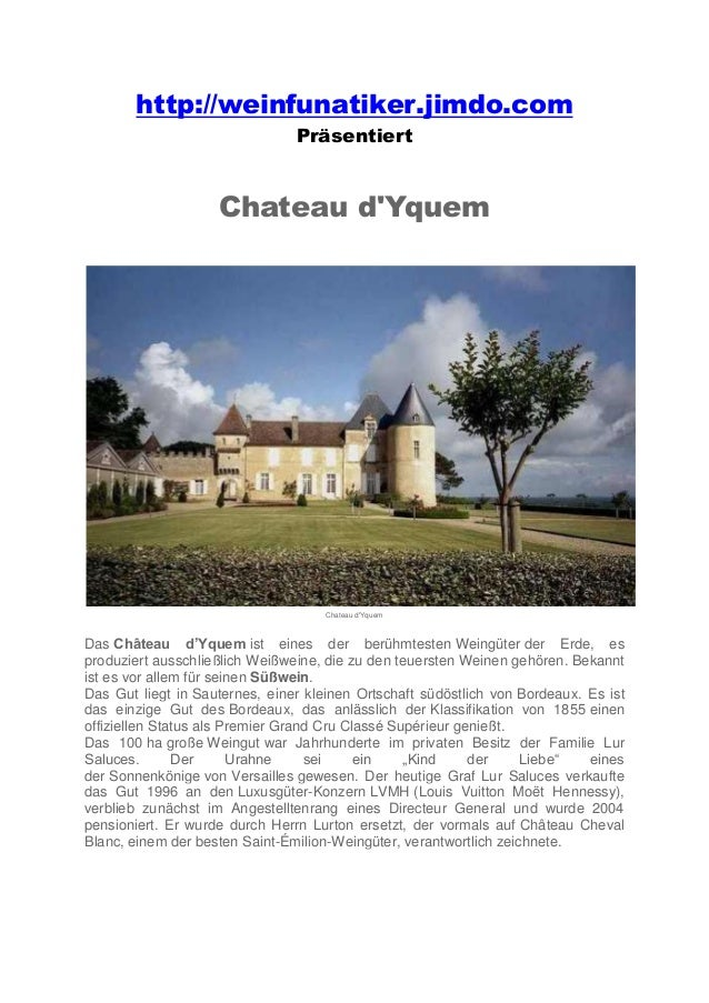 Berühmte Weingüter Chateau d' Yquem Slide 2