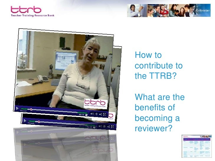 What is the E-librarian service on the TTRB?  How can the service support your work and professional development?