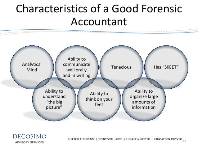 characteristics of an accountant