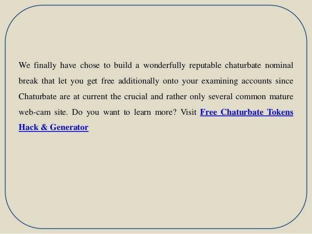Chaturbate chaturbate token hack slideshare - 웹