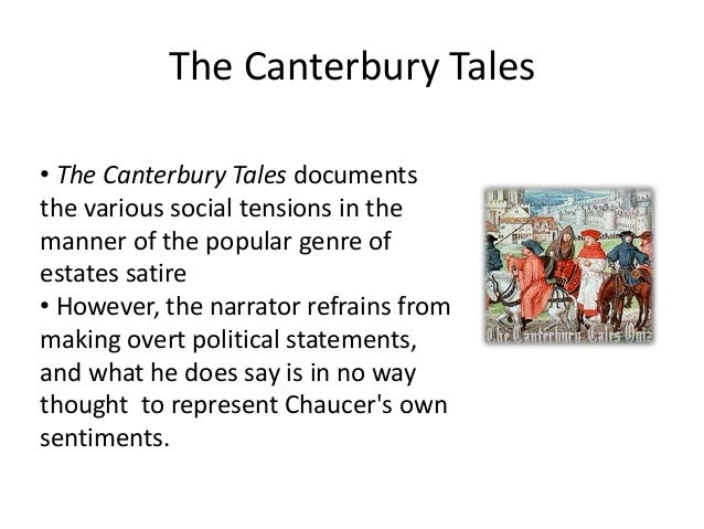 Humor, Irony and Satire in the Prologue of The Canterbury Tales
