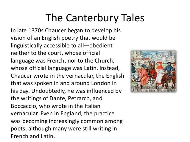 Influence of Italian humanism on Chaucer