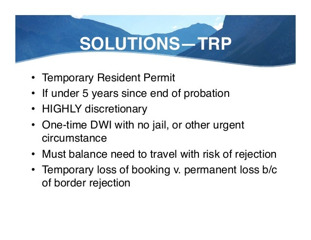 """SOLUTIONS—TIPS! • DO NOT: Argue with Border Agent"""" • DO NOT: Cross your fingers"""" • DO NOT: Bring application to border """"..."""