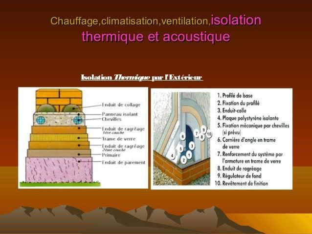 Chauffage climatisation ventilation et isolaion thermique for Crepi exterieur isolant thermique