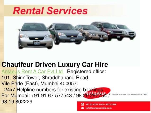 Chauffeur Driven Car Rental Mumbai Antaeusindia Com
