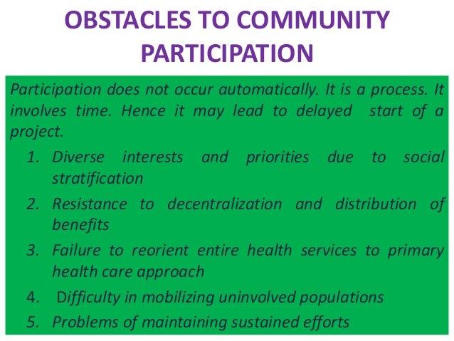benefits community participation